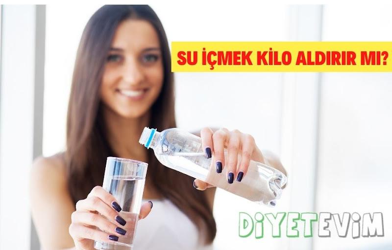 su içmek kilo aldırır mı