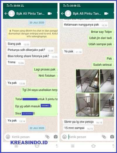 Pintu Tangga Stainless pesanan Bpk Ali di Cideng Timur Jakarta