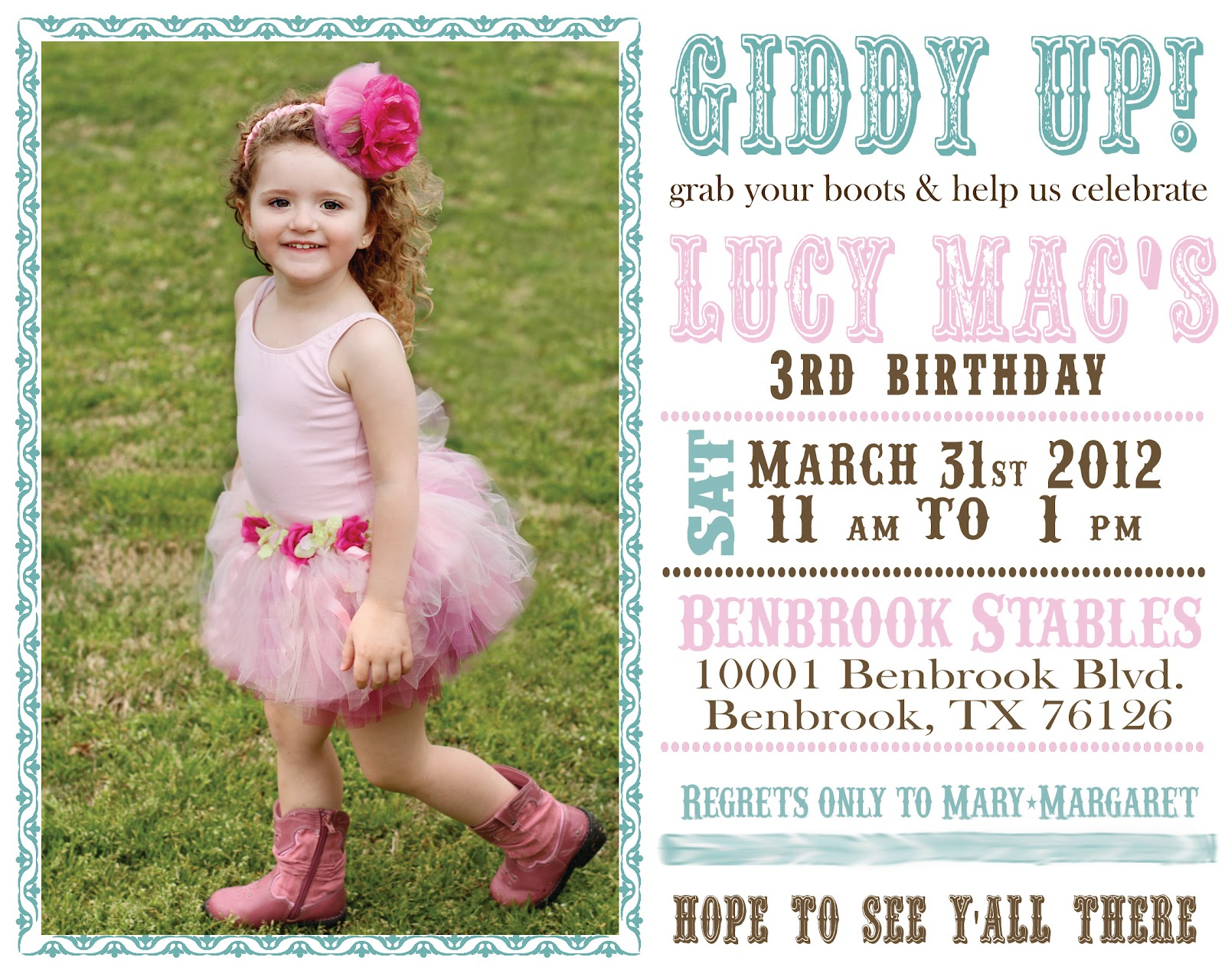 kgw studio lucy s 3rd birthday invitations