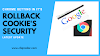 Search engine chrome getting in it's rollback cookie's security