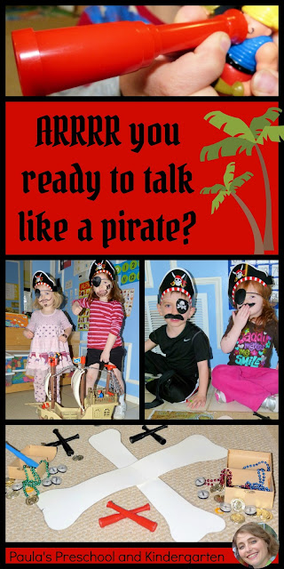 ARRRR you ready to talk like a pirate?  from Paula's Preschool and Kindergarten