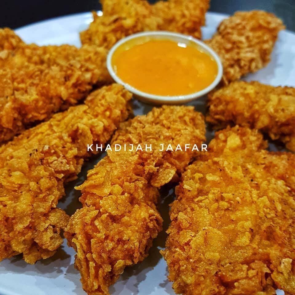 Resepi Ayam Goreng Crispy Cornflakes