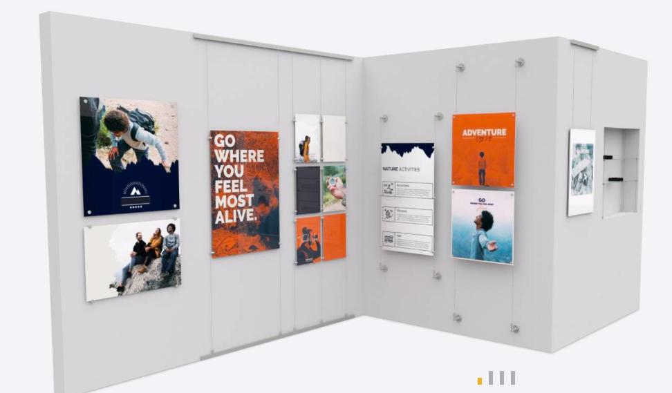 Marketing - ścianki reklamowe