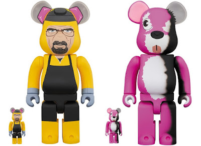 Breaking Bad Walter White & Pink Bear Be@rbrick Vinyl Figures by Medicom Toy