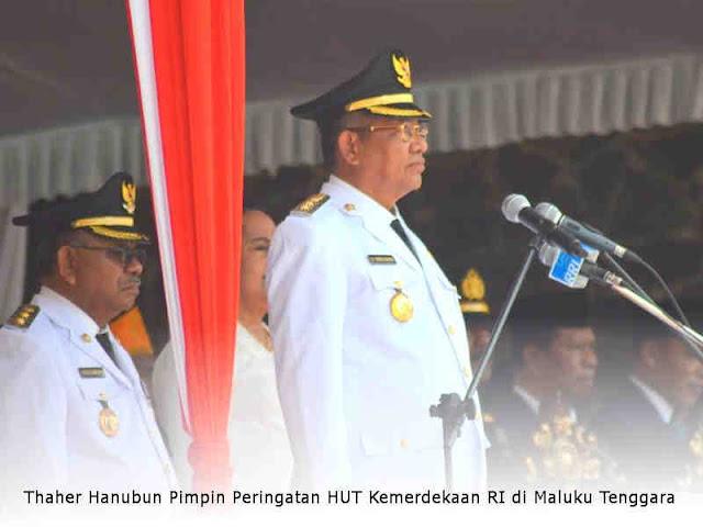 Thaher Hanubun Pimpin Peringatan HUT Kemerdekaan RI di Maluku Tenggara