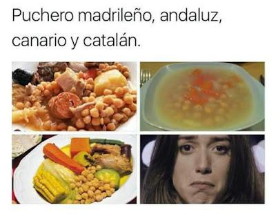 Puchero, madrileño, andaluz, canario, catalán