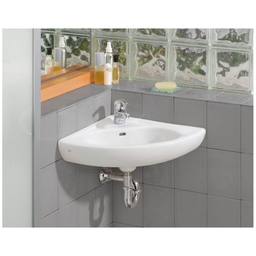 The daily tubber corner sinks for small bathrooms for Compact sinks for small bathrooms
