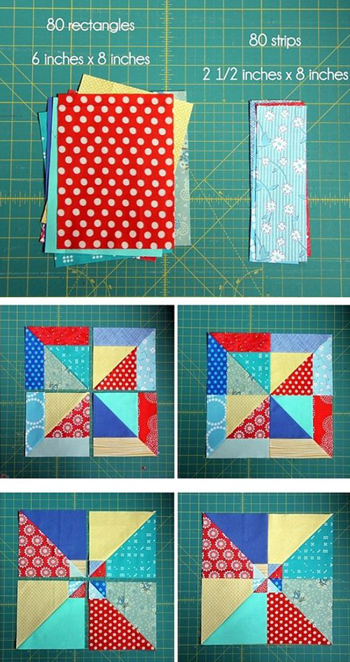Summer Slice Quilt Blocks - Tutorial