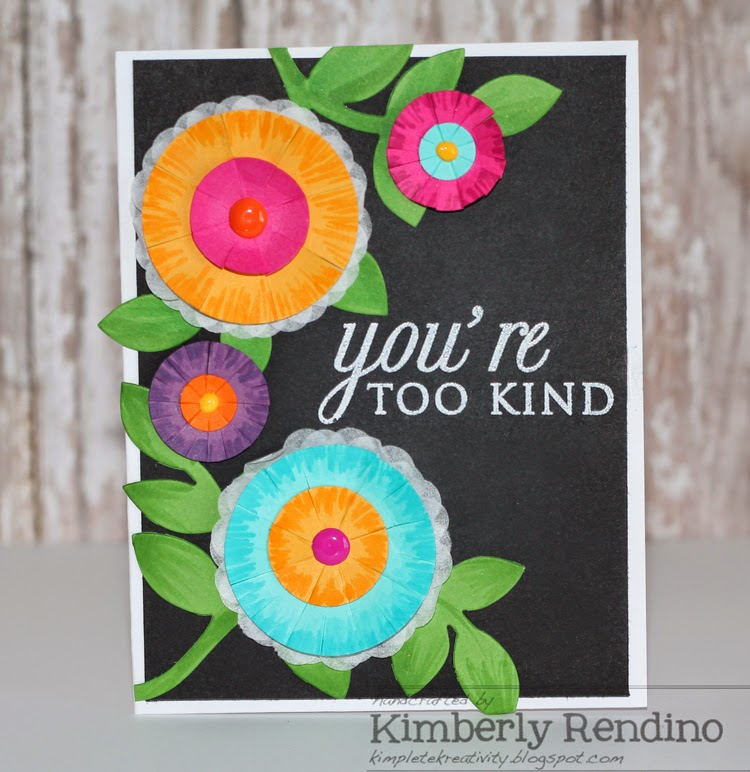 Flower card by Kimberly Rendino | Kimpletekreativity.blogspot.com