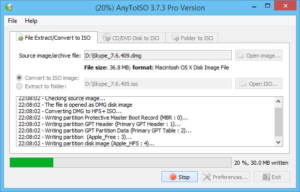 convertire in ISO le Immagini dei supporti ottici con AnyToISO Converter.