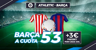Paston Megacuota Athletic vs Barcelona 6-1-2021