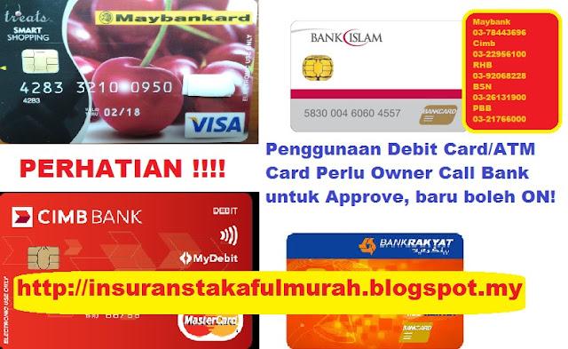 Service Center Bank untuk aktifkan autodebit Insurans Medical Card