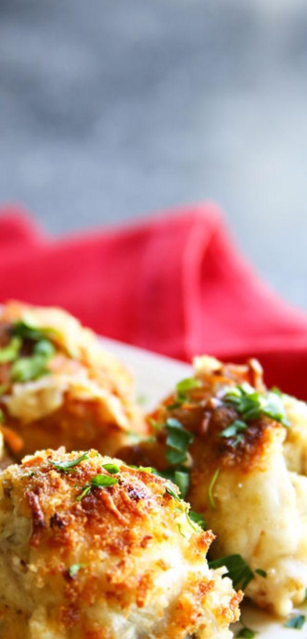 Garlic Parmesan Clam Stuffed Mushrooms