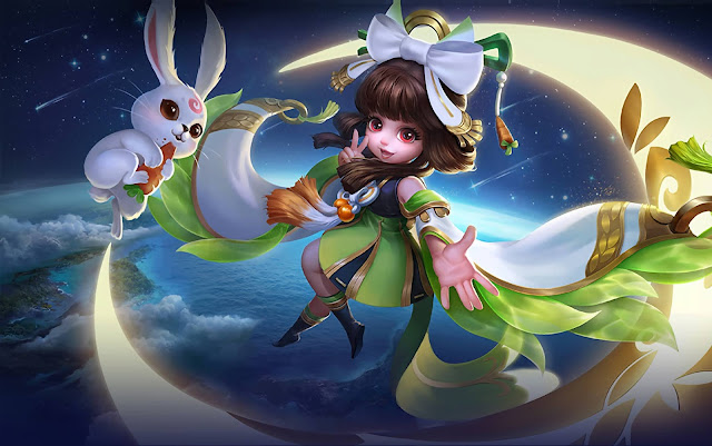 Chang'e Moon Palace Immortal Heroes Mage of Skins Mobile Legends Wallpaper HD for PC