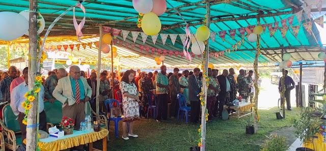 Tingkatkan Harmonisasi Keagamaan, Satgas Pamtas Yonif 312/KH Hadiri HUT Klasis GKII Di Perbatasan Papua