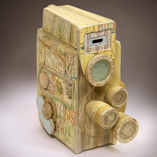18-Revere-Spool-Eight-Ching-Ching-Cheng-Vintage-Camera-Sculptures-Made-of-Books-and-Maps-www-designstack-co