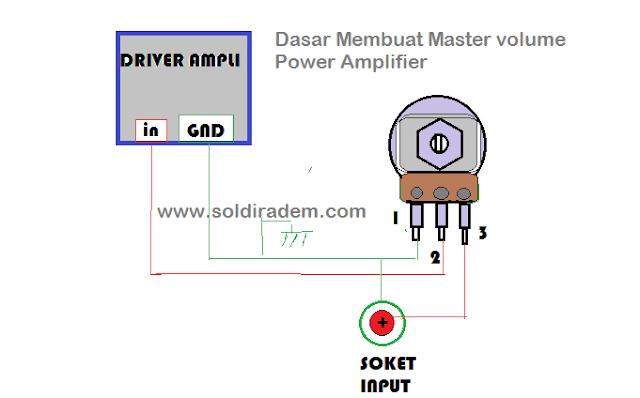 Cara membuat Volume Power Amplifier Dasar