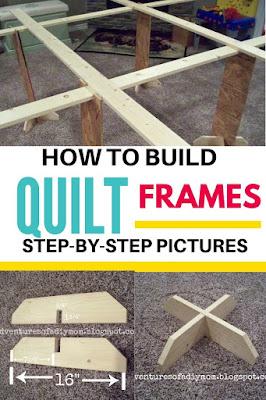 homemade quilt frames