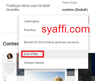 11. Edit HTML pada Blogger