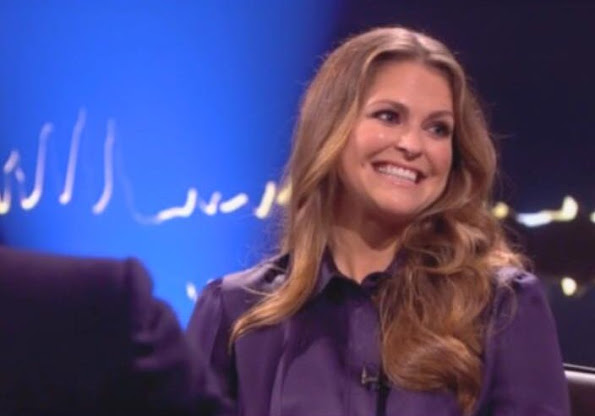 Princess Madeleine of Sweden and Chris O'Neill, celebrity chef Jamie Oliver and British singer Adele - Skavlan Television Show filming at the London Studios