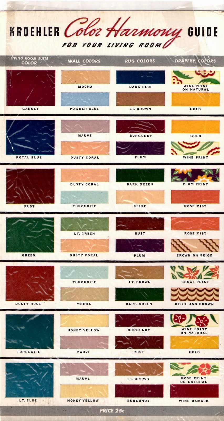Mad For Mid-Century: Kroehler Mid-Century Ranch Paint Colors