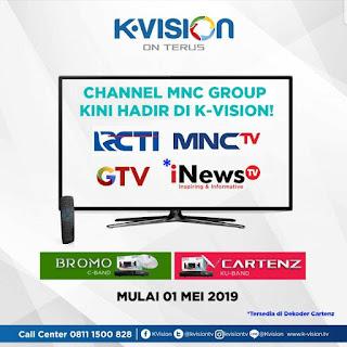 Frekuensi Transponder Terbaru MNC Group K-Vision Ku-Band dan C-Band