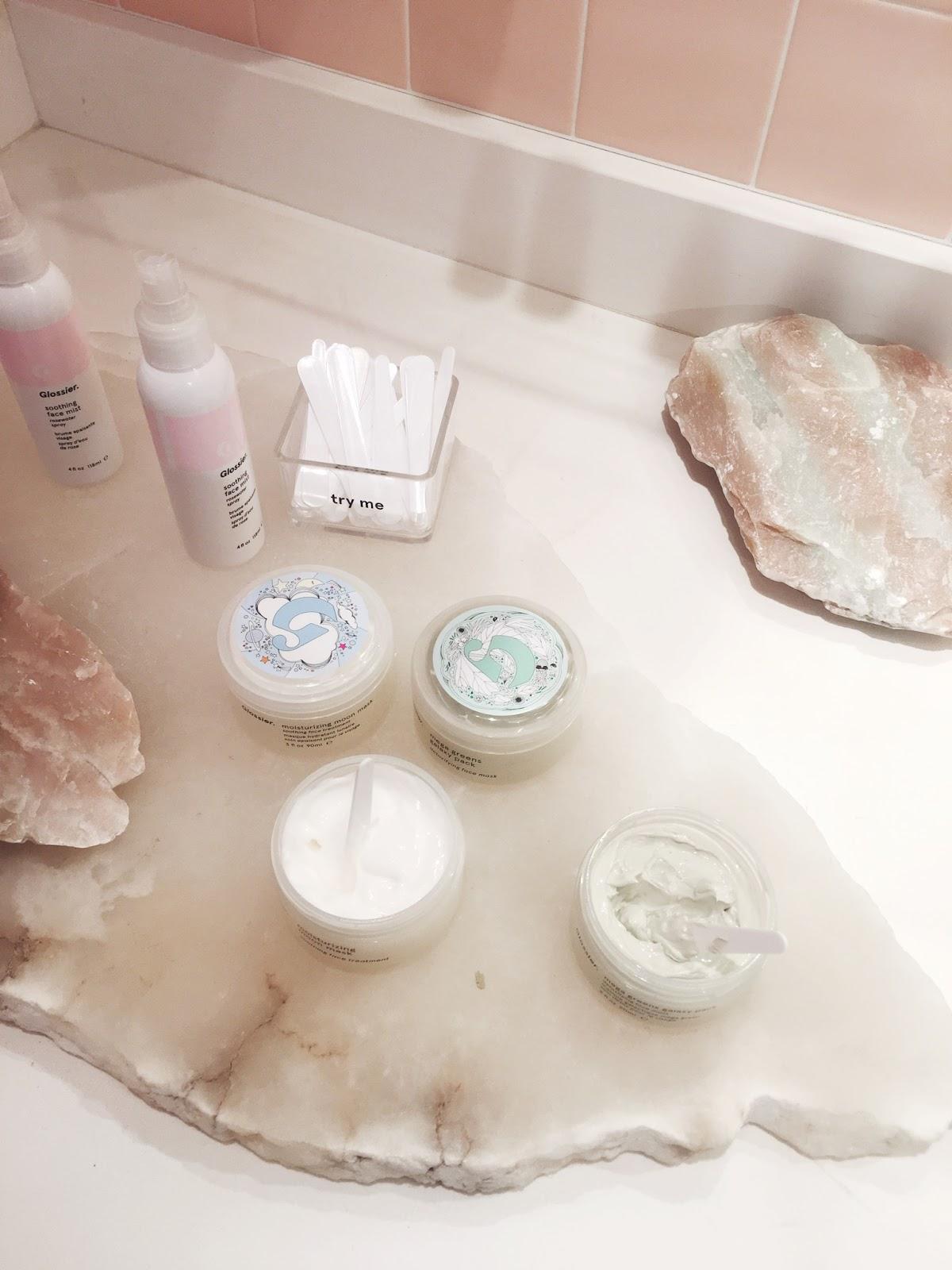 glossier masks, glossier skincare, trendy skincare