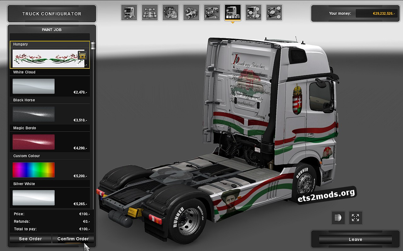 Hungary Skin for Mercedes MP4