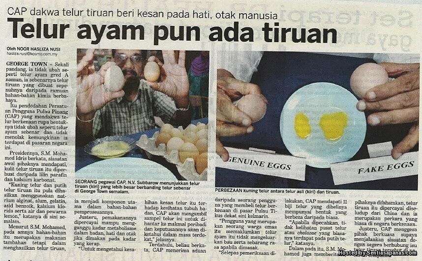 7 Makanan Popular Tetapi Tiruan Anda Wajib Tahu!