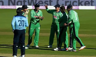 Ireland cricket team after dismissing England batsman