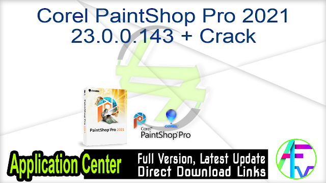 Corel PaintShop Pro 2021 23.0.0.143 + Crack