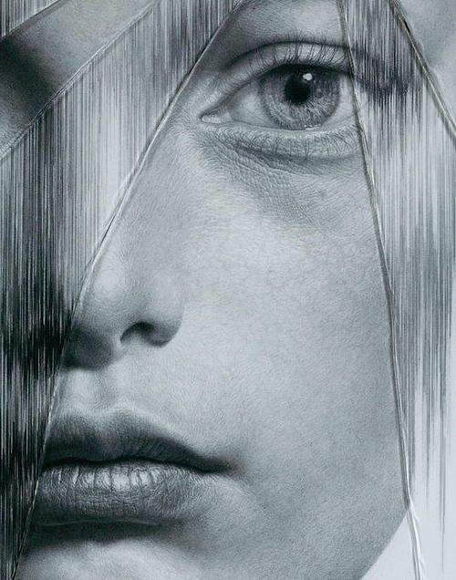 04-The-Cracked-Portrait-Pencil-Drawing-and-Glass-www-designstack-co