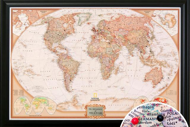 carte du monde à piner
