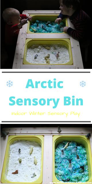 Arctic Sensory Bin for Indoor Winter Sensory Play
