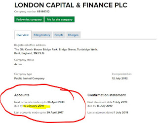 London Capital & Finance accounts overdue - new date