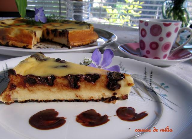 Tarta de queso y chocolate con Thermomix