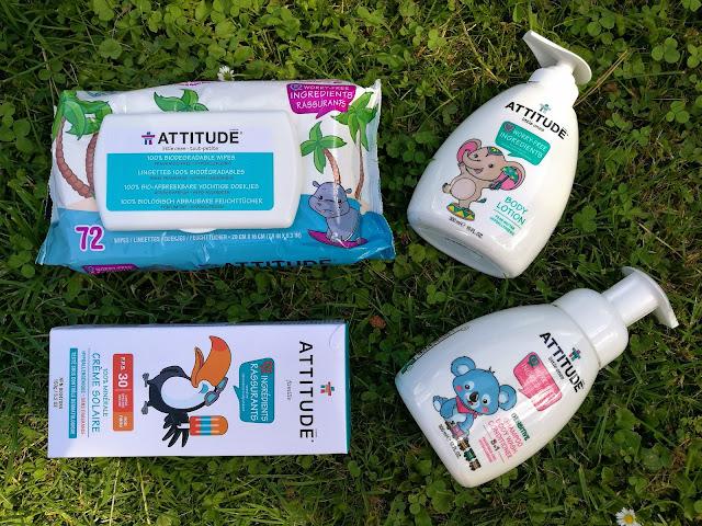 recenze dětská kosmetika attitude vlhčené ubrousky, mýdlo, opalovací krém, tělové mléko