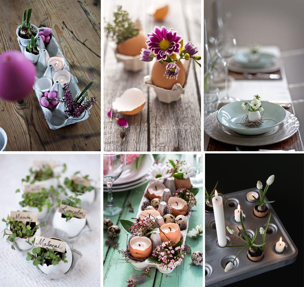 diy centro de mesa con huevos y flores para decorar en pascuas semana santa happy easter