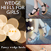 Wedge heels for girls