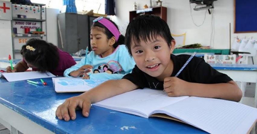 MINEDU: Colegios deben reservar dos vacantes por aula para estudiantes con discapacidad