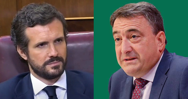 Pablo Casado y Aitor Esteban