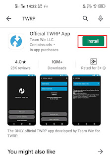 Step 1. Install TWRP Application from PlayStore