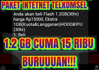 Cara Buat Paket Internet Flash Telkomsel 1.2GB Baru [Update]