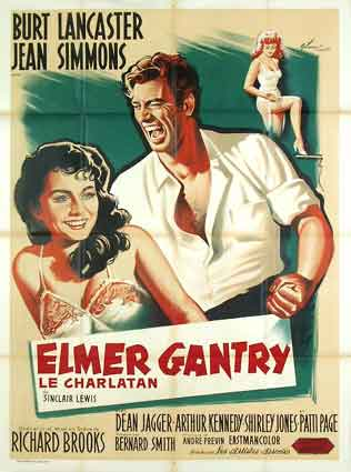 Film Poster Elmer Gantry 1960 movieloversreviews.blogspot.com