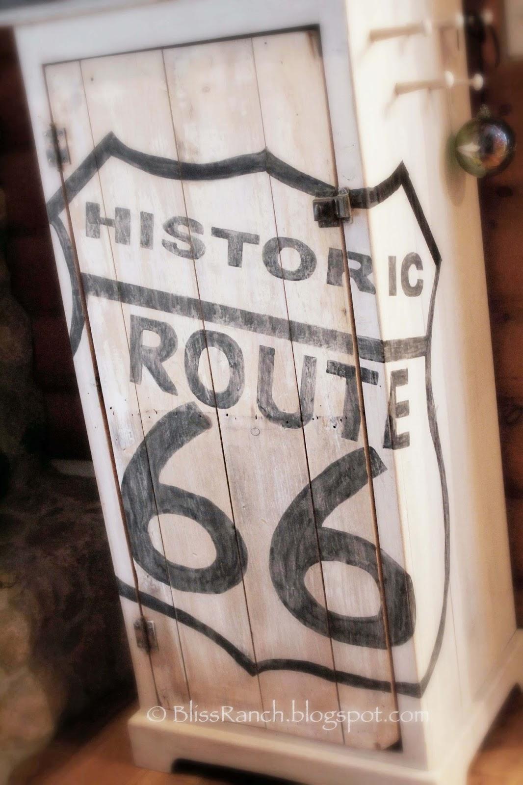 Route 66 Cabinet Copycat Bliss-Ranch.com