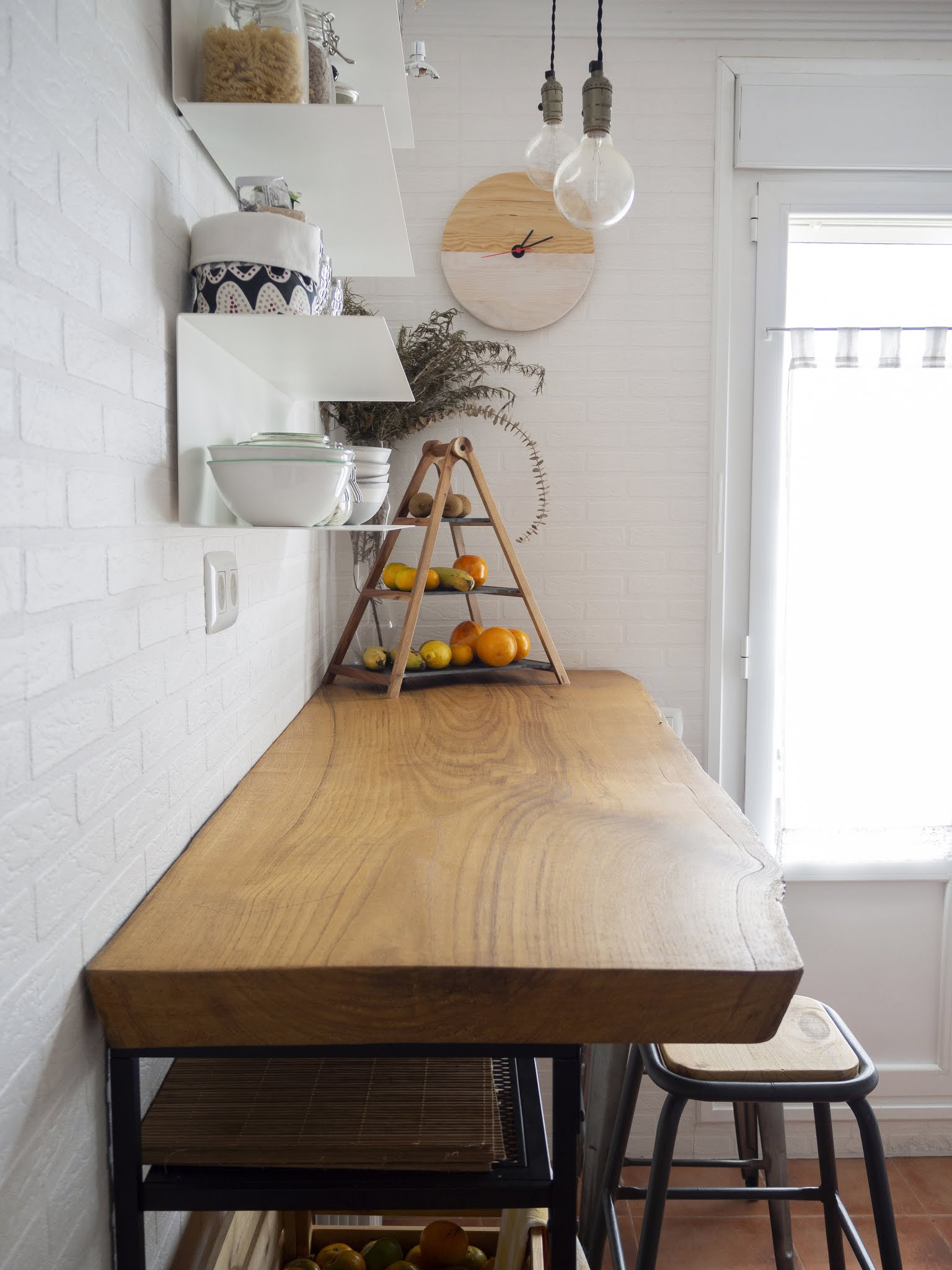DIY Reloj de madera para nuestra cocina6