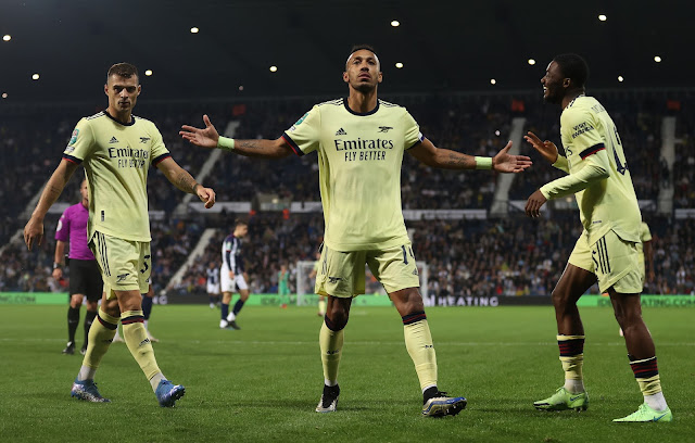 Aubameyang stars as Arsenal thrash West Brom 6-0
