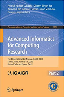 Advanced Informatics for Computing Research: 3rd International Conference