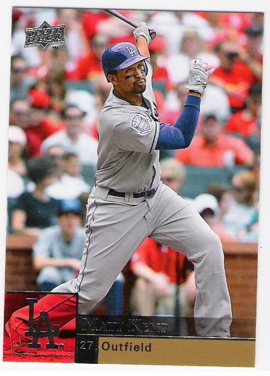45018b112 2008 - los angeles dodgers 50th anniversary (2009 upper deck matt kemp)