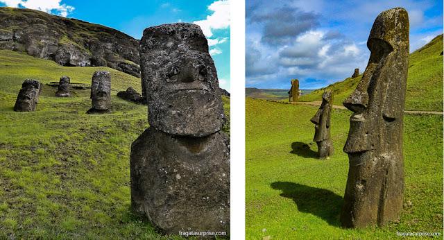 Estátuas de pedra da Ilha de Páscoa